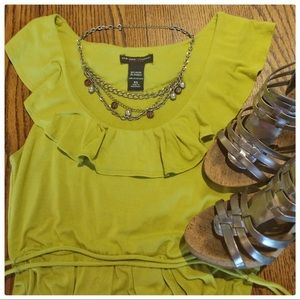 Comfy Chartreuse Dress by New York & Company